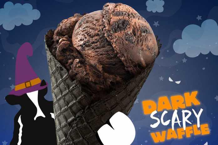 Dark Scary Waffle Ben & Jerry's capa