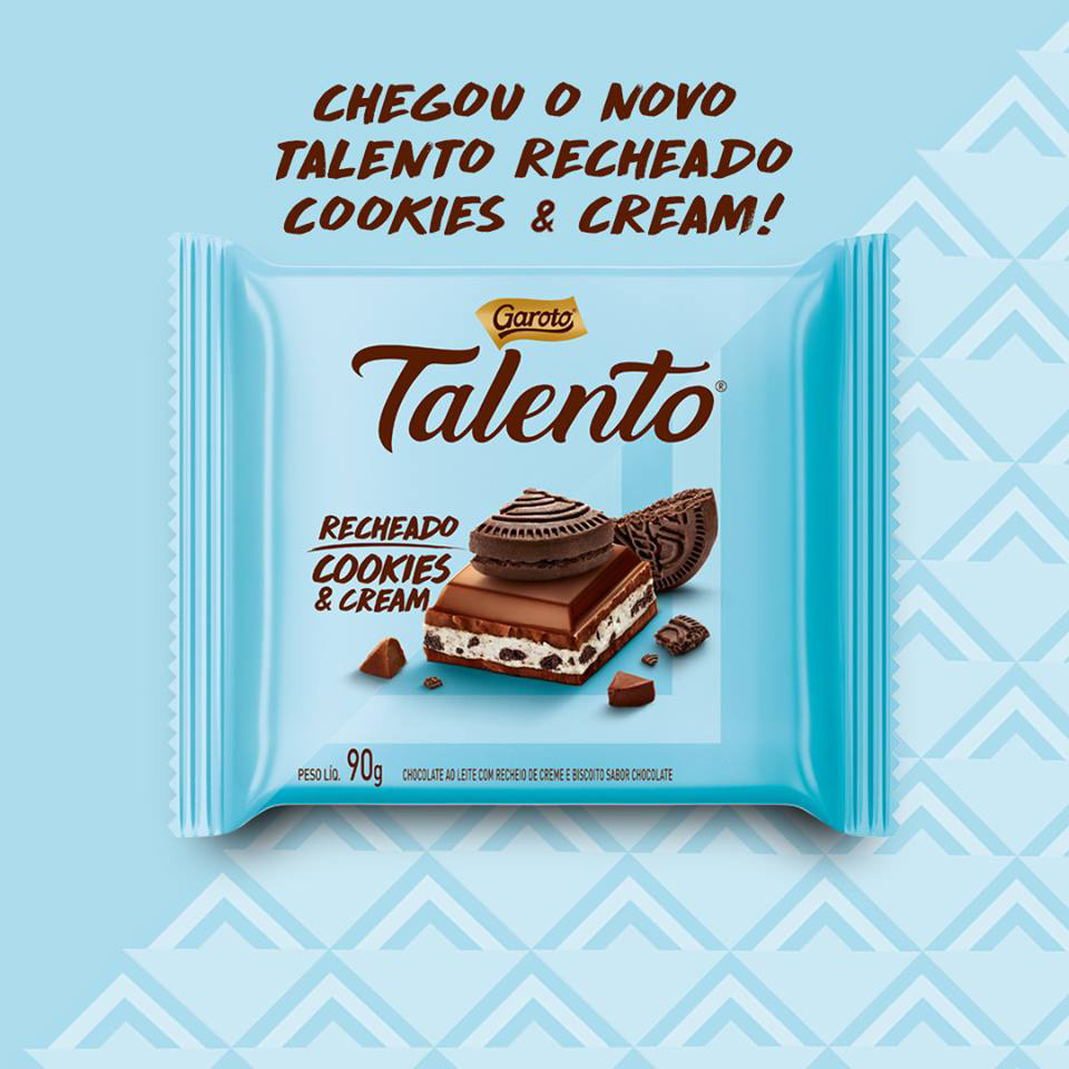 Talento Cookies & Cream Garoto detalhes