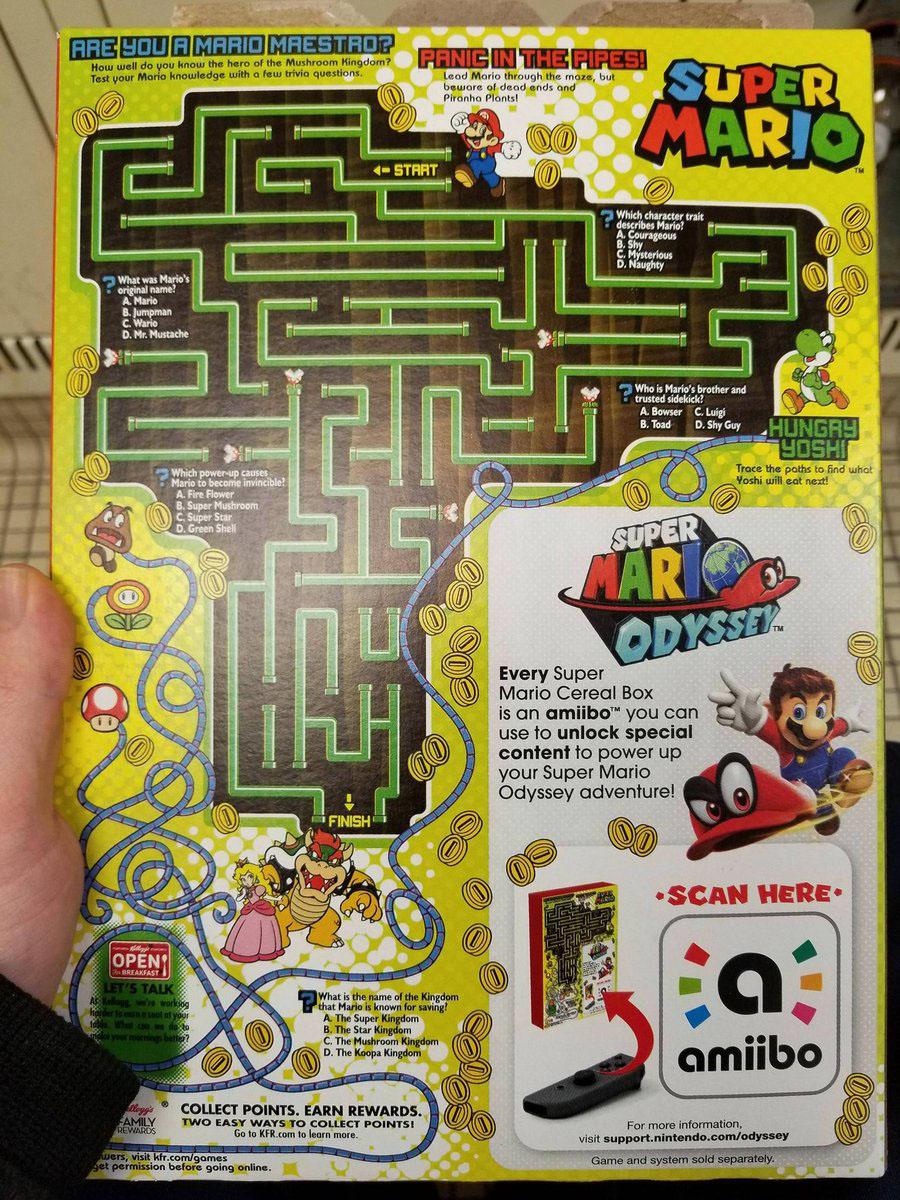 Caixa Super Mario Cereal Kellogg's