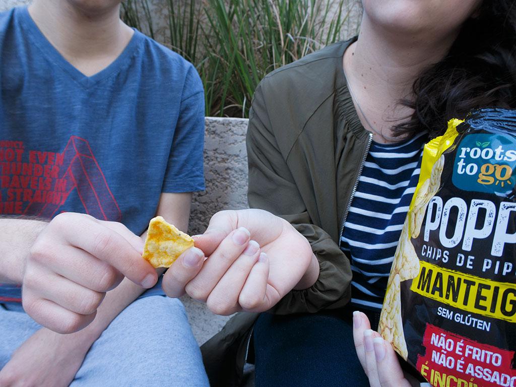Chips de Pipoca Popps Manteiga