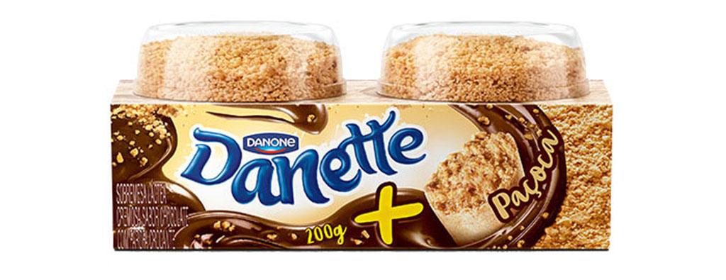Danette Danone com Paçoca