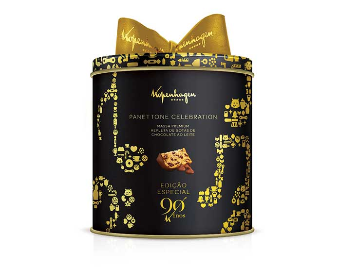 Panettone Celebration Lata Musical 2kg Kopenhagen