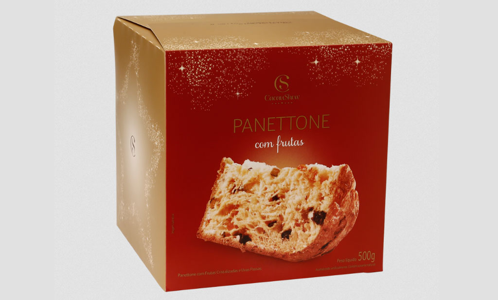 Panettone Frutas, 500G Cacau Show