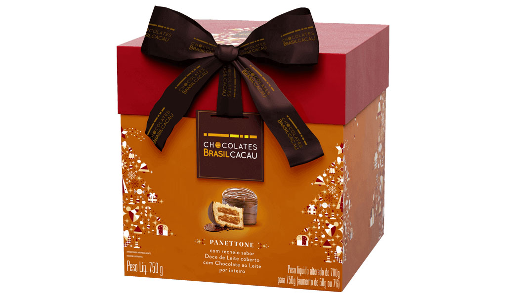 Panettone Doce de Leite, 750g Chocolates Brasil Cacau