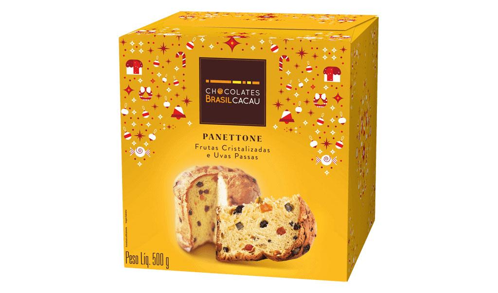 Panettone Frutas, 500g Chocolates Brasil Cacau