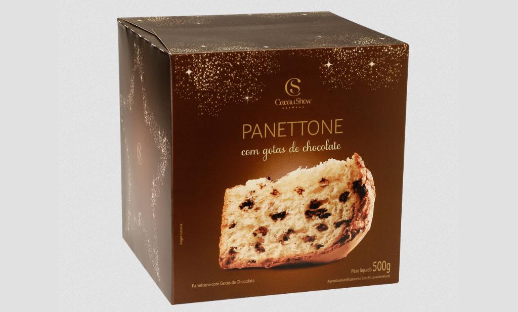 Panettone Gotas, 500g Cacau Show