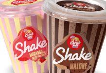 Novos Shakes Creme Mel Sorvetes