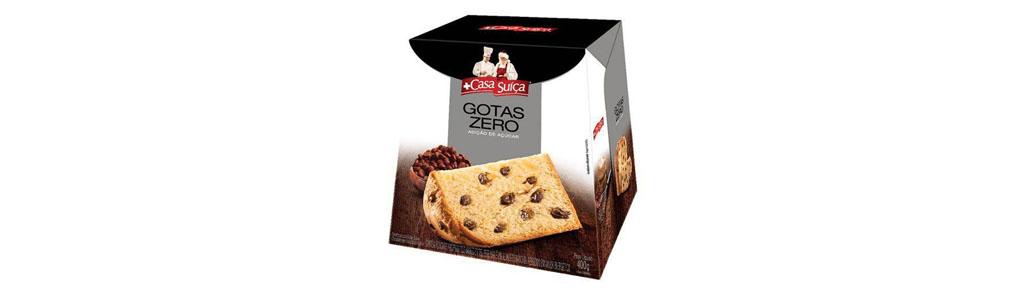 Panettone Casa Suíça com Gotas Sabor Chocolate – Zero adição de açúcar, 400g