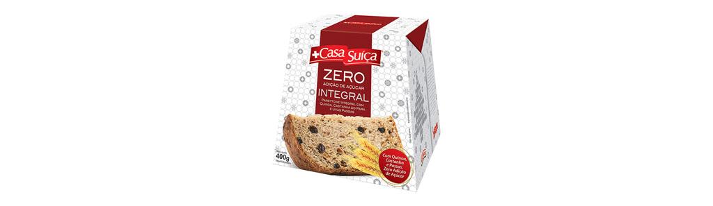 Panettone Casa Suíça Integral com Quinoa, Castanha do Pará e Uvas Passas – Zero adição de açúcar, 400g