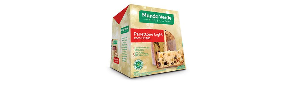 Panettone Light Mundo Verde com Frutas Cristalizadas, 400g
