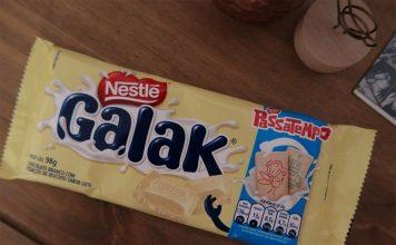 Barra de Chocolate branco Galak + Passatempo Nestlé