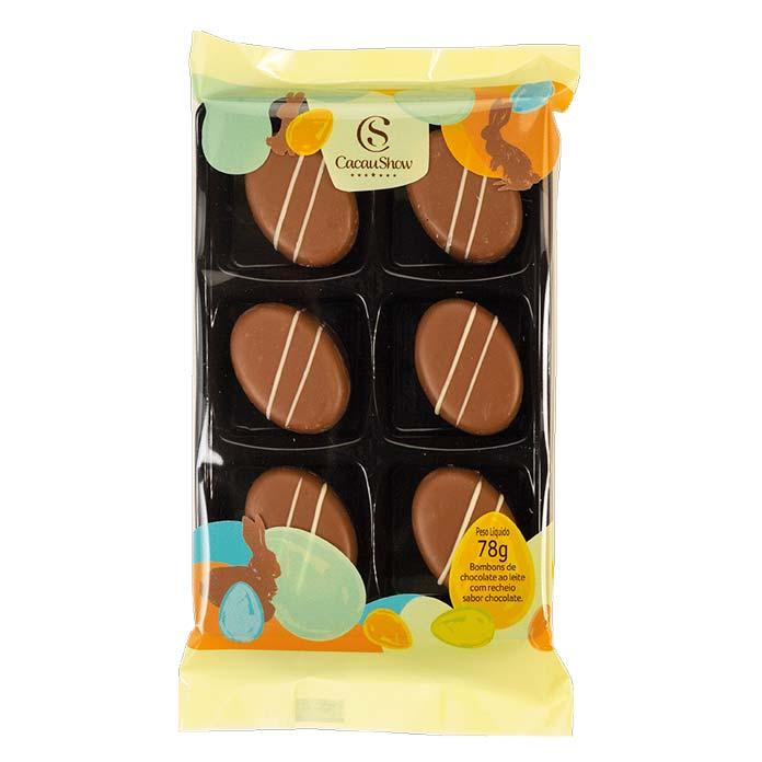 Bombons de Chocolate Ao Leite Cacau Show 78g