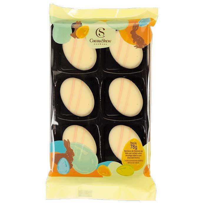 Bombons de Chocolate Ao Leite Coberto com Chocolate Branco Cacau Show 78g