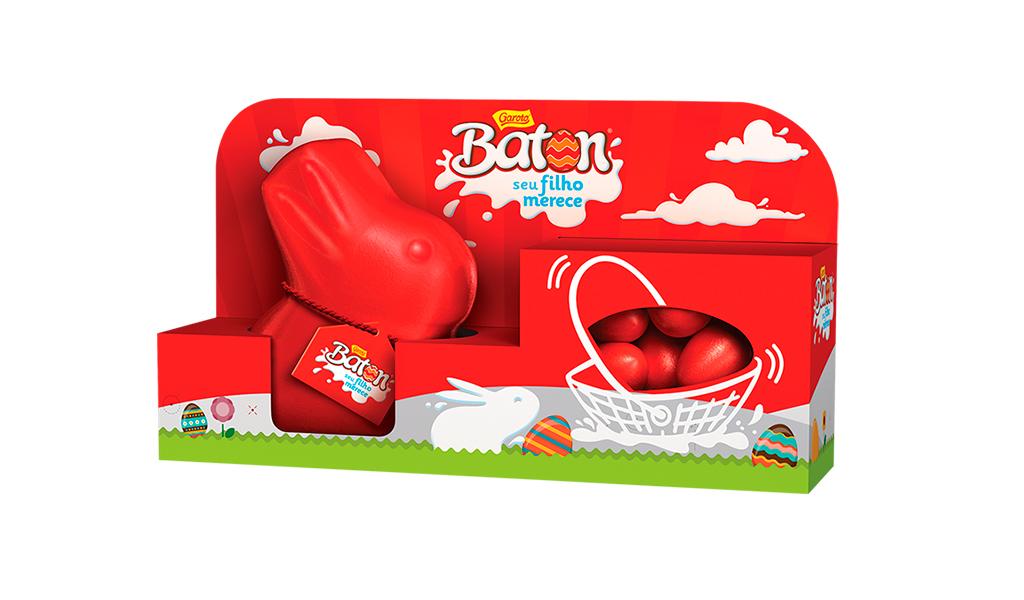 Combo Coelhinho de Chocolate + Miniovos Baton Garoto