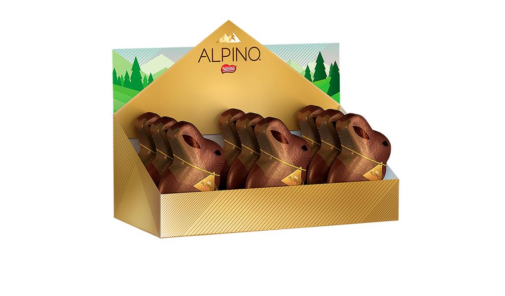 Coelho de Chocolate Alpino Nestlé