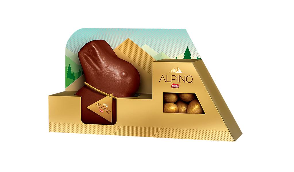 Combo: Coelho de Chocolate e Miniovos Alpino 126g Nestlé