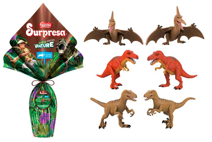 Ovo de Páscoa Surpresa Dino Venture