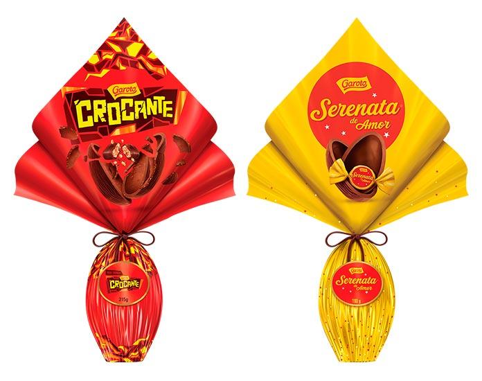 Ovos de Páscoa Crocante e Serenata de Amor Garoto