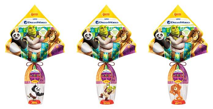 Ovos de Páscoa DreamWorks Garoto
