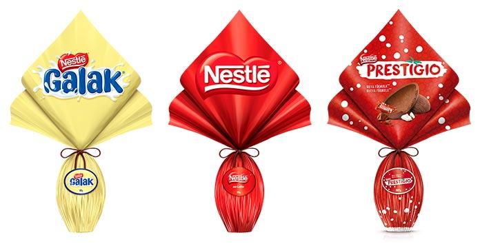 Ovos de Páscoa Galak, Ao Leite e Prestígio Nestlé