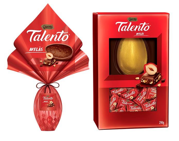 Ovos de Páscoa Talento Avelãs e Talento Tabletes Garoto