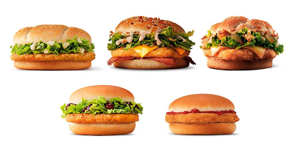 Cardápio Sanduíches McDonald's Espanha