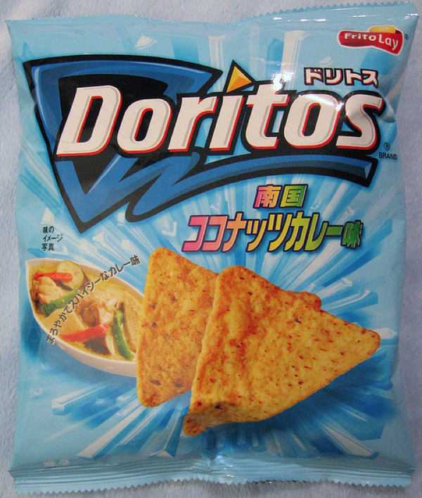 Doritos Curry e Leite de Coco