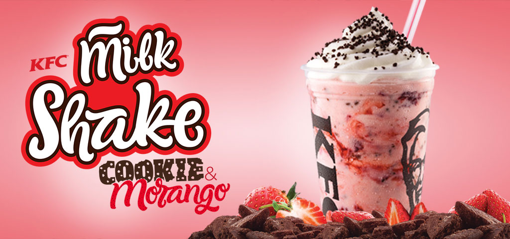 Milk Shake Cookie & Morango KFC