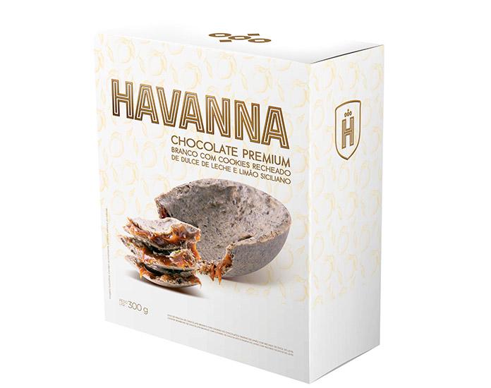 Ovo Branco com Cookies e Raspas de Limão Havanna (300g)