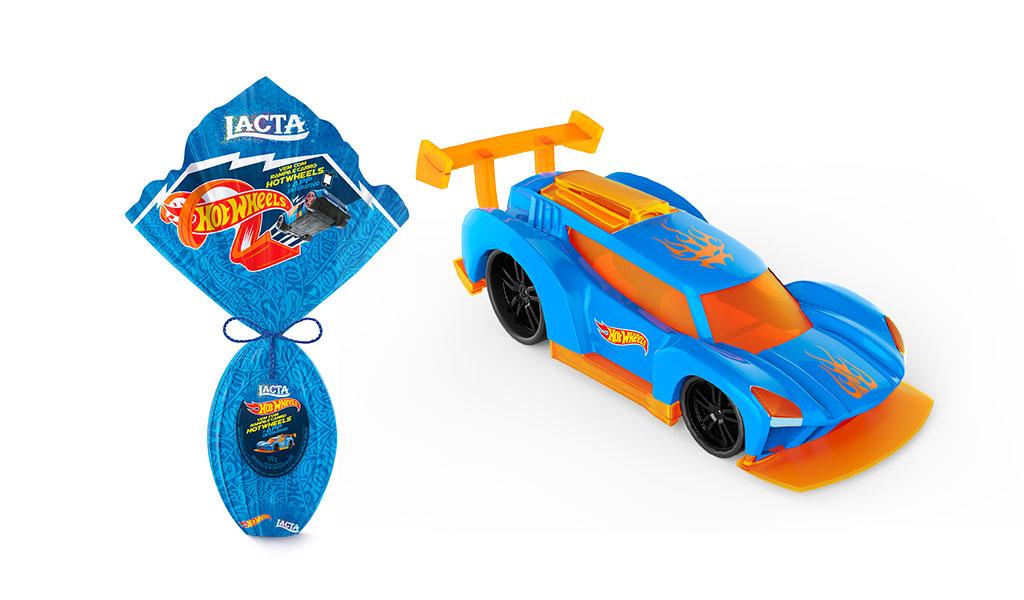 Ovo Lacta Hot Wheels - 170g