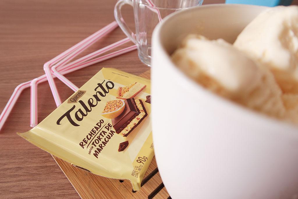 Milk Shake com Talento Recheado Torta de Maracujá