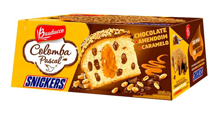 Colomba Pascal Snickers - 800g Bauducco