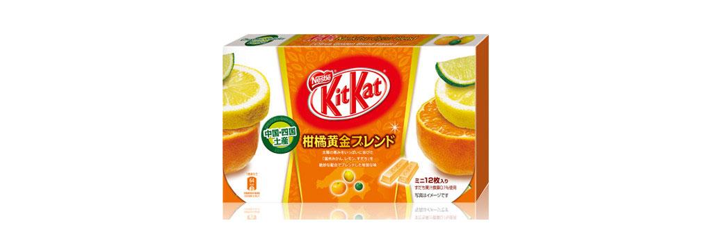 Kit Kat Laranja, 'Tangerina' e Limão Japão