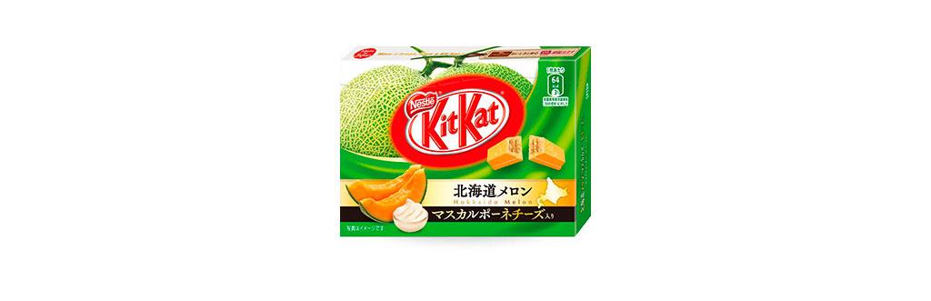 Kit Kat Melão e Queijo de Mascarpone Japão