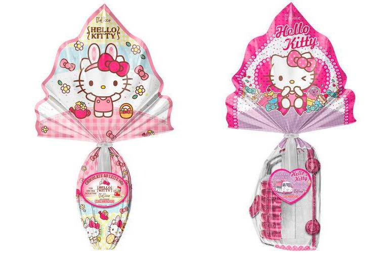Ovo de Páscoa Hello Kitty - 80g e 90g D'elicce