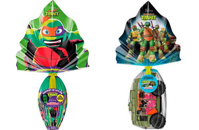 Ovo de Páscoa Tartarugas Ninja Ao Leite - 80g e 90g D'elicce