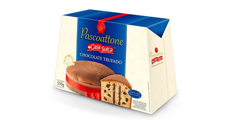 Pascoattone Chocolate Trufado - 550g Casa Suíça