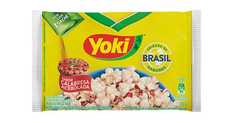 Pipoca Calabresa Acebolada Brasil Yoki