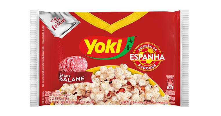 Pipoca Salame Espanha Yoki