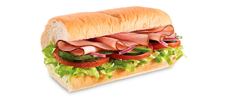 Sanduíche Presunto Subway
