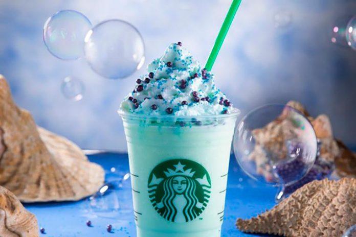 Frappuccino Encantadora dos Mares Starbucks