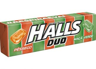 Halls Duo Pêssego e Maçã Verde