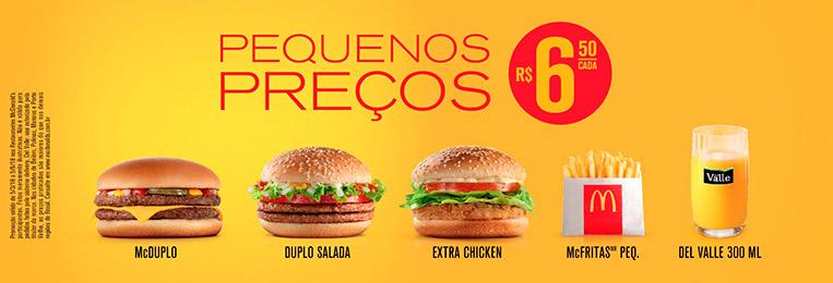 Pequenos Preços McDonald's - Março a Junho de 2018