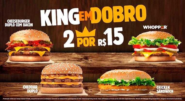 Promoção King em Dobro R$15