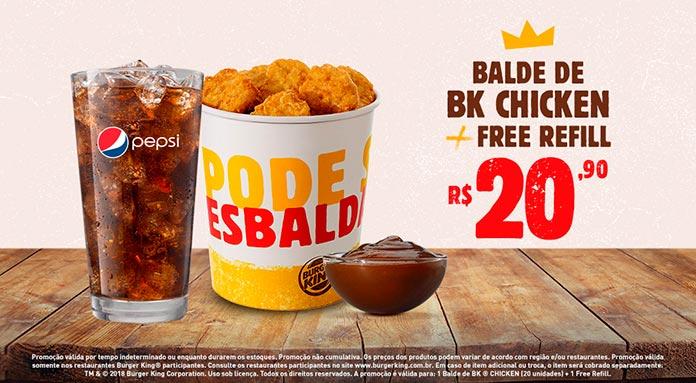 Promoção Burger King Acompanhamentos