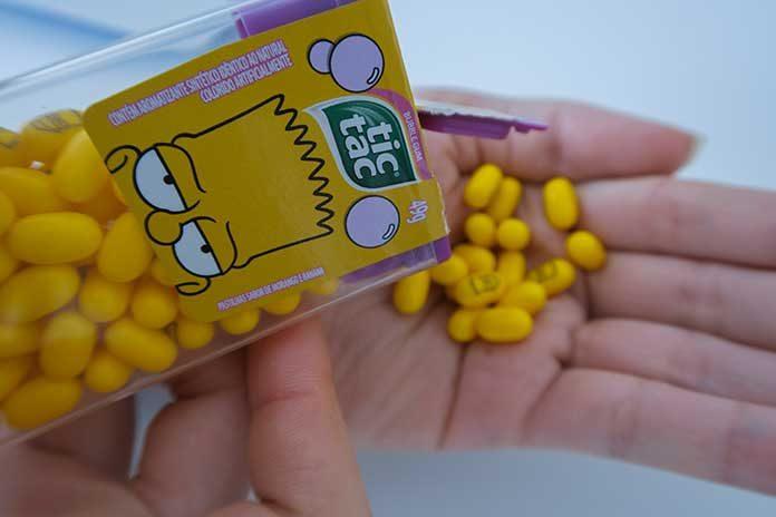 Tic Tac Os Simpsons Embalagem