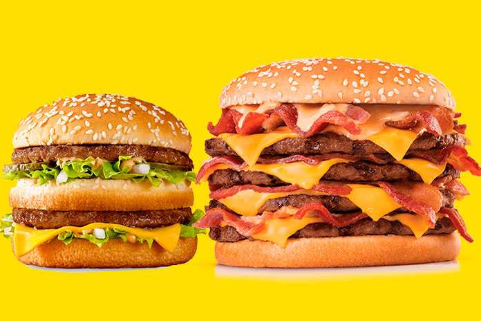 Lanche McDonald's x Lanche Burger King