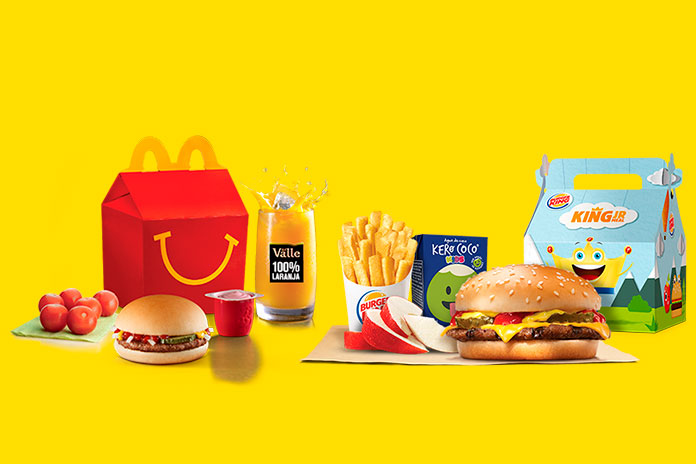 Linha Infantil McDonald's x Linha Infantil Burger King