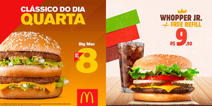 Promoções McDonald's x Promoções Burger King