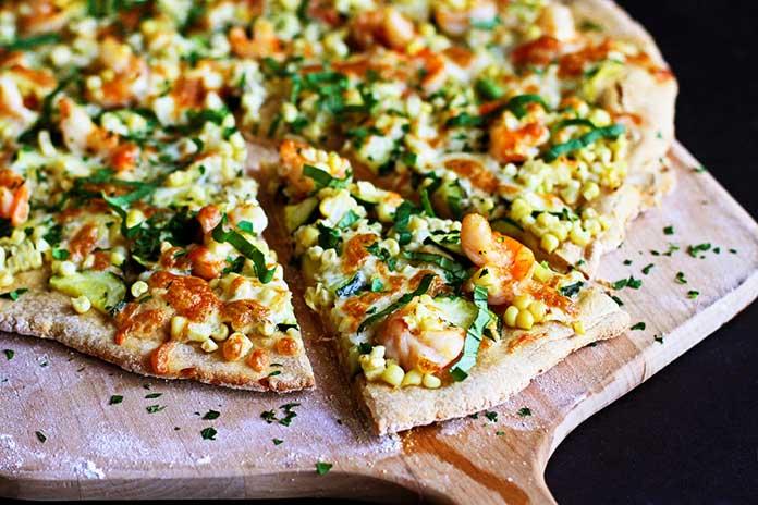 Sabores de Pizza de Camarão